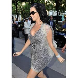 Katy Perry looking fabulous in Marisa Kenson Collections' signature invisible belt dress!